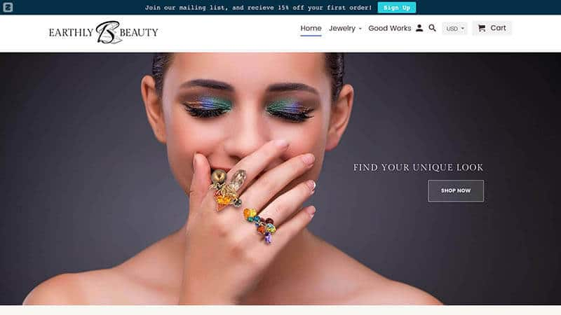 Earthly Beauty Jewelry featured image.