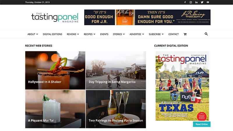 The Tasting Panel Magazine home page