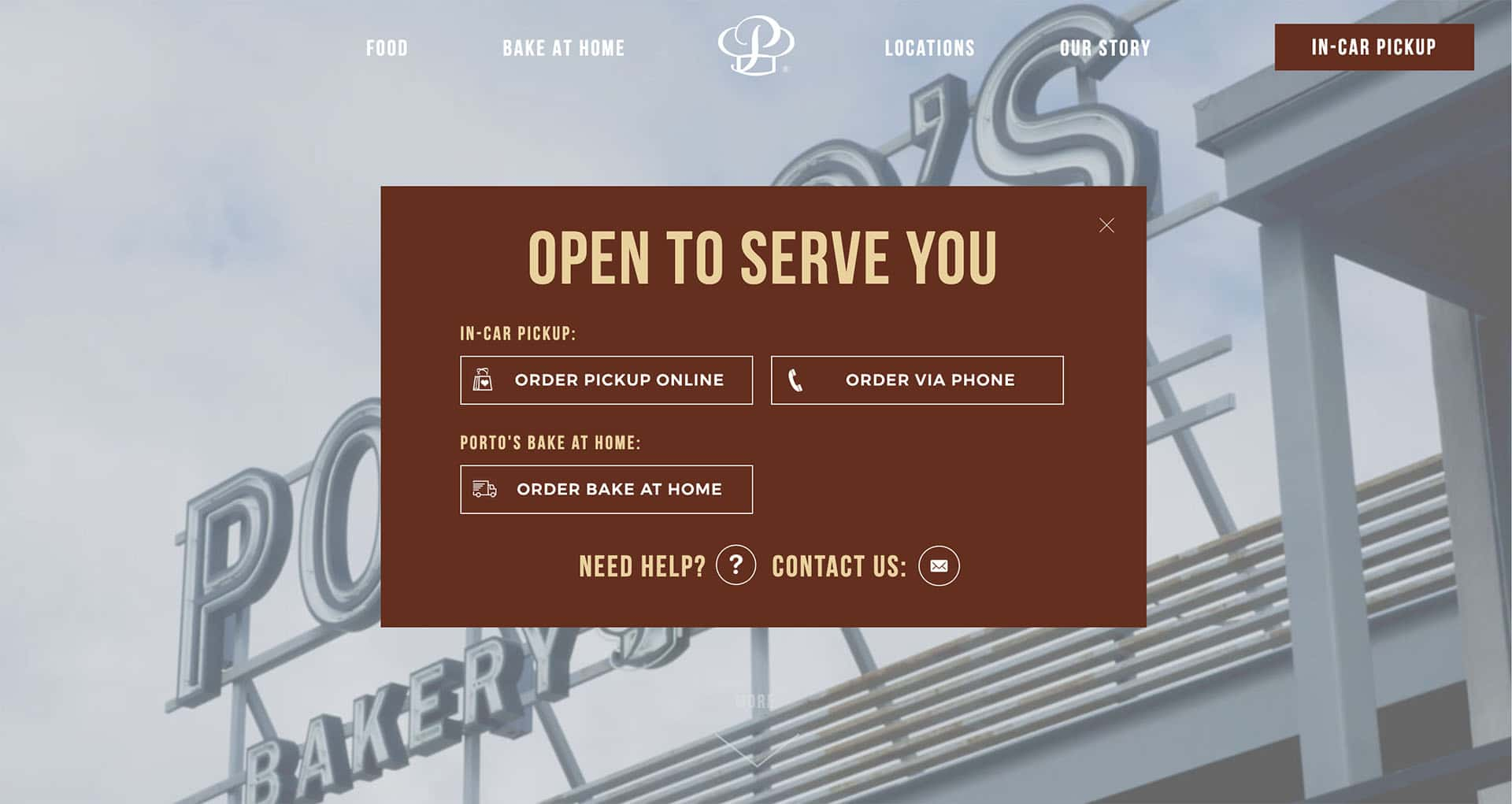 image of web design coronavirus example Porto's new homepage
