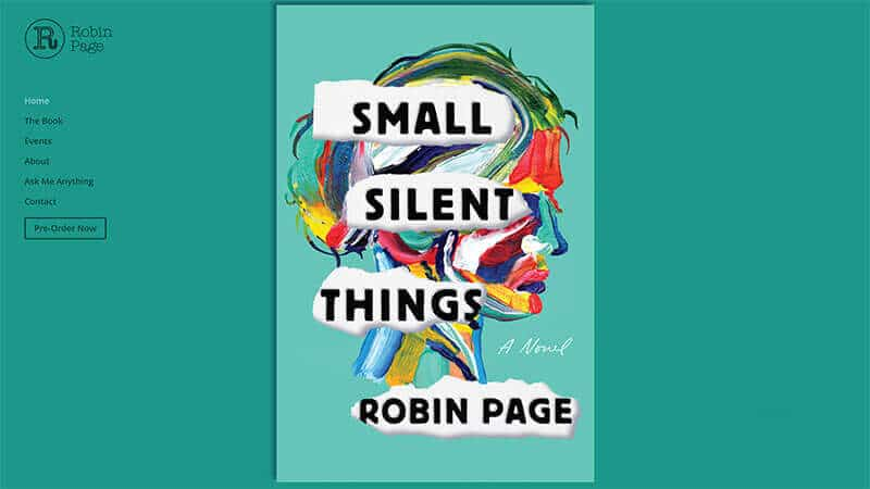 Robin Page, author. Home page by Guedin Designs.