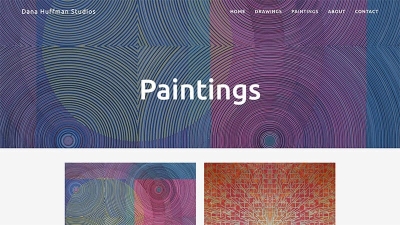 Dana Huffman Studios website snapshot