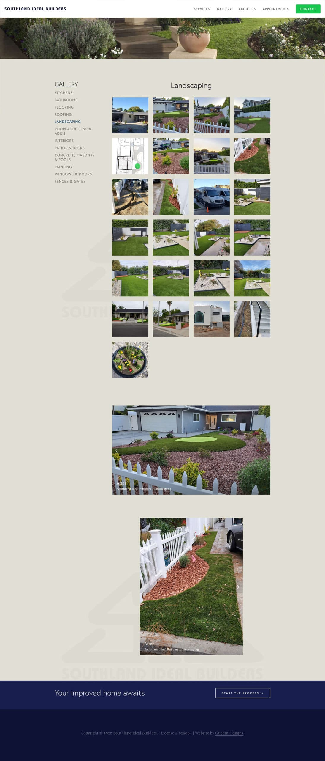 Snapshot of Southland Ideal Builders landscaping gallery